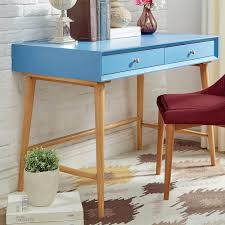 Mid Century Secretary Desk by Homesullivan Wyatt Mid Century Blue Writing Desk 40e333 15bu The