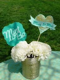 Bridal Shower Centerpiece Ideas by Mint To Be Bridal Shower Centerpiece Miss To Mrs Glitter Gold