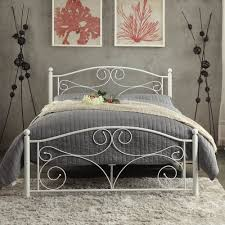 homelegance pallina metal platform bed in white beyond stores