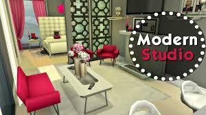 the sims 4 speed build modern studio apartment youtube