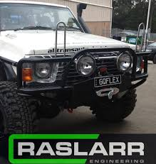 nissan patrol 1991 nissan patrol gq y60 tube bull bar please email for shipping quotes be