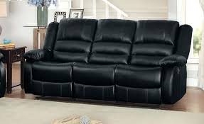 Black Leather Reclining Sofa Black Leather Reclining Sofa With Cup Holders Recliner Furniture