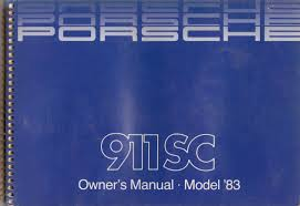 1983 porsche 911 sc warranty and maintenance handbook original