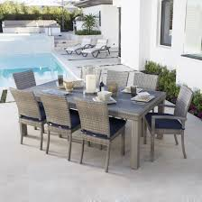 Outdoor Dining Room Rst Brands Cannes 9 Piece Dining Set With Cushions Patio