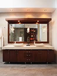 bathroom alluring design of hgtv furniture dark brown wooden bathroom vanity with round white