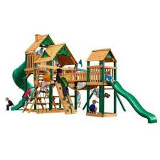Wooden Backyard Playsets Playsets U0026 Swing Sets Parks Playsets U0026 Playhouses The Home Depot