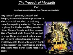 the tragedy of macbeth plot learning objective ppt