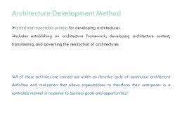 Define Resumed Enterprise Architecture Approach Togaf 9 Prashant Patade