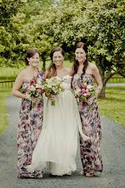 floral print bridesmaid dress wedding trends floral bridesmaid dresses the magazine