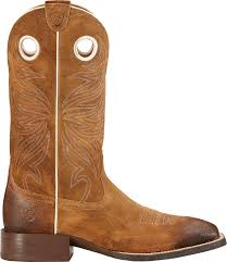 ariat sport rider western boots in brown for men lyst