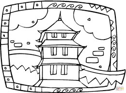 buddhist temple coloring page free printable coloring pages