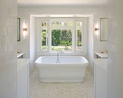 Bathtubs Free Standing Herringbone Floor Tile Bathroom Traditional With Bathtub