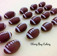 football cupcakes 12 fondant football cupcake toppers edible 3d