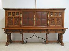 Antique Liquor Cabinet Oak Gothic Antique Cabinets U0026 Cupboards Ebay