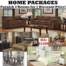 Living Room Furniture Packages Home Packages With 3 Rooms Of Furniture For 1 Discount Price For