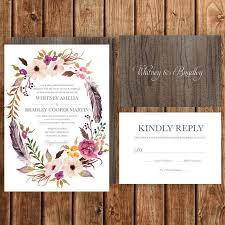 how to make invitations bohemian wedding invitations cloveranddot