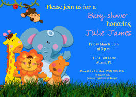 neutral jungle theme baby shower invitation ideas horsh beirut