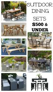 Patio Furniture Sets Under 500 by Farmhouse Style Outdoor Decorating Ideas U0026 Shopping Guide
