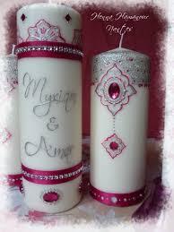 bougie hennã mariage nouvelles bougies argent et fushia le de hamanour