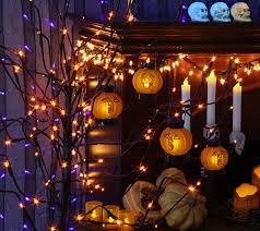 led pumpkin tea lights halloween tea lights halloween decorations