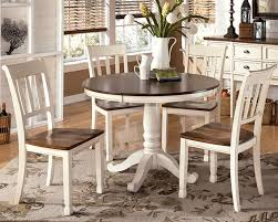 Round Table Dinette Sets - Round white dining room table set