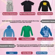 your guide to buy a cool u0026 comfortable sweatshirt visual ly
