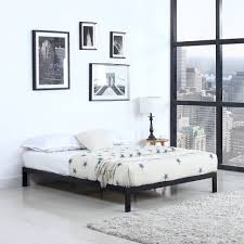 bedroom full size platform bed frame bed with headboard storage