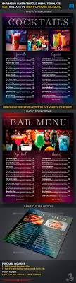 drink menu template free menu bar menu templates