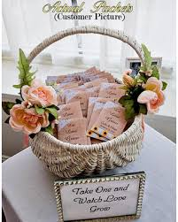 seed favors fall sale let grow seed packets sunflower seeds burlap