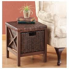 wood rattan storage ottoman 229612 housekeeping u0026 storage at