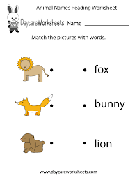 Community Helpers Worksheets For Preschool Preschoolers Have To Match Animal Images With Words In This Free