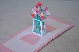 mother u0027s day pop up card flower bouquet creative pop up cards