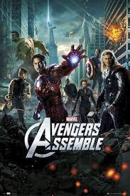 avengers movie poster assemble 24 x 36 iron man thor captain