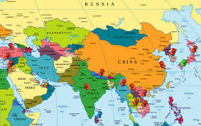 map of countries of asia world map asia madrat co