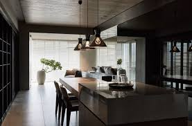 Dark Dining Room Black Acrylic Glass And Stone Form This Dark And Sophisticated