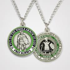 armor of god necklace armor of god coin gold symbol arts
