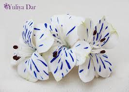 barretts hair wedding hair clip flower clip alstroemeria hair accessories