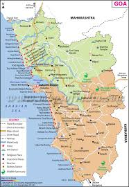 India Physical Map by Goa Map City Information And Travel Destinations