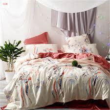 Featherbedding Home Textile 100 Cotton Gray Feather Bedding Set King Duvet Cover