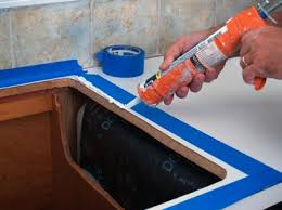How To Caulk A Kitchen Sink How To Install A Kitchen Sink Sinks Kitchens And Countertop