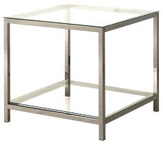 Glass End Tables Home Glass Top Goldtone Metal End Table For Metal End Tables