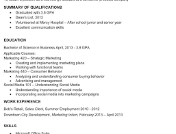 college resume template sample samples for students accounting