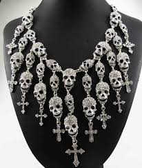 cross necklace fashion jewelry images Newest gorgeous fashion necklace skeleton skull cross jewelry jpg