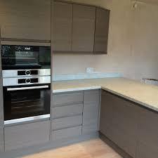 grey handleless kitchen billingham kitchens