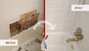 incredible results for this bathroom after a caulking job in dallas tx