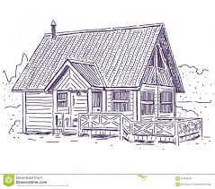 wooden cottage stock vector image 67854629