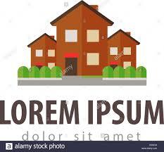 Haus Suchen Haus Ferienhaus Vektor Logo Design Vorlage Bau Gebäude Oder