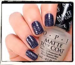 opi matte top coat and comparison nailderella
