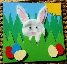 Easter Decorations Online Shop by Craft Magic Easter Project Handmade Easter Rabbit Picture Card