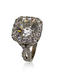 stone rings style images Cubic zirconia rings engagement rings 4 carat cushion cut jpg